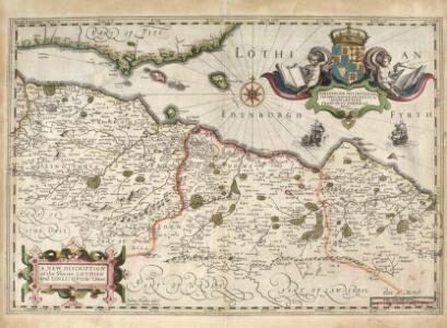 A new description of the shyres Lothian and Linlitquo / T. Pont ; Jodocus Hondius caelavit sumptibus Andrae Hart.