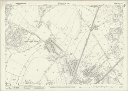 Surrey XIX.1 (includes: Epsom; Ewell) - 25 Inch Map