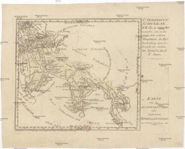 Karte von der asiatischen Türkey oder Levande, Persien und Ostindien