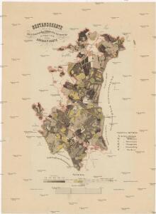 Bestandskarte für die Excursionstour des böhmischen Forstvereins im August 1874 auf der Herrschaft Grazten [sic]