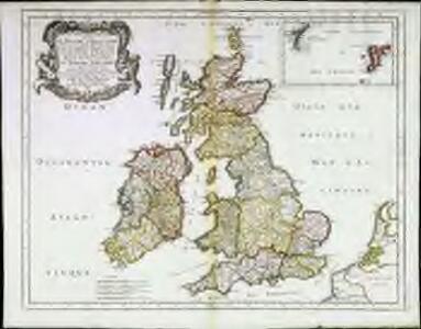 Les isles britannicques ou sont le royaume d'Angleterre divisé en ses quatre roy.mes des Saxons