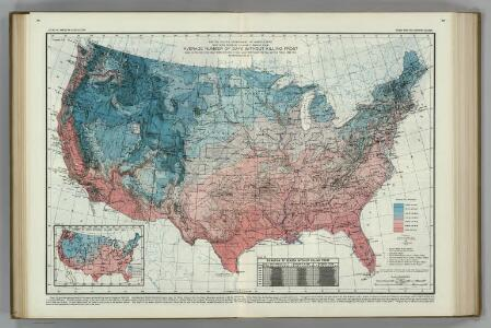 Average Number of Days without Killing Frost.  Atlas of American Agriculture.
