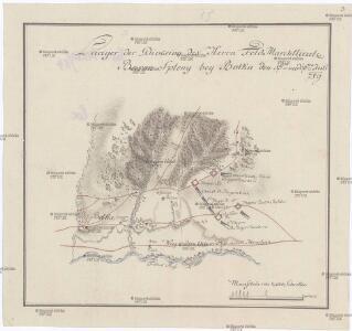 Lager der Division des Herrn Feld Marchlieute. Baron Spleny bey Botka den 5ten und 6ten Juli [1]789
