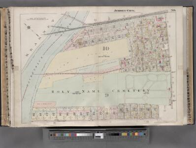 Jersey City, V. 1, Double Page Plate No. 30 [Map bounded by Newark Ave., West Side Ave., Duncan Ave., Hackensack River] / compiled under the direction of and published by G.M. Hopkins Co.