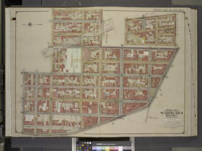 Brooklyn, Vol. 1, Double Page Plate No. 3; Part of    Wards 4 & 5, Section 1; [Map bounded by Prince St., Johnson St., Bridge St.,     Fulton St.; Including  High St., Jay St., Concord St.]; Sub Plan; [Map bounded   by Concord St., Navy St., Pork Ave.