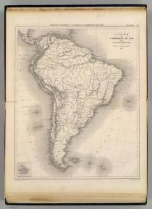 Carte de l'Amerique du Sud.