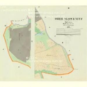 Ober Slowenitz - c2151-1-002 - Kaiserpflichtexemplar der Landkarten des stabilen Katasters
