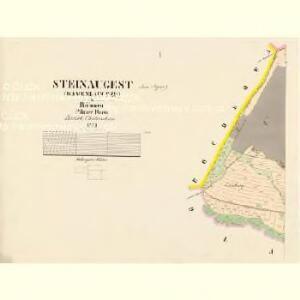 Steinaugest (Kameni-Augezd) - c3028-1-001 - Kaiserpflichtexemplar der Landkarten des stabilen Katasters