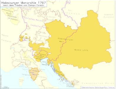 Habsburger Monarchie 1797 nach dem Frieden von Campo Formio