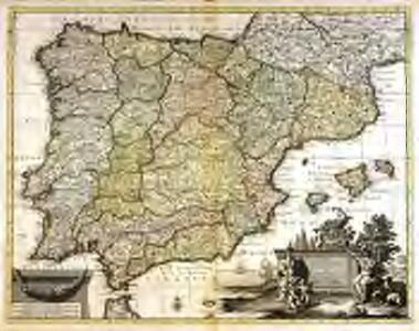 Novissima et accuratissima tabula regnorum Hispaniæ et Portugalliæ