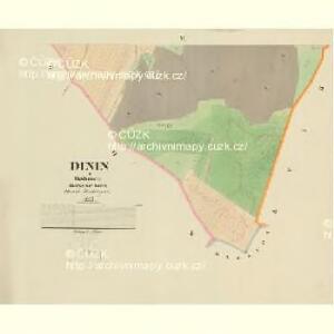 Dinin - c1639-1-003 - Kaiserpflichtexemplar der Landkarten des stabilen Katasters