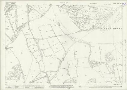Surrey XIX.13 (includes: Ashtead; Epsom; Walton on The Hill) - 25 Inch Map
