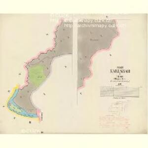 Karlsbad - c3056-1-002 - Kaiserpflichtexemplar der Landkarten des stabilen Katasters