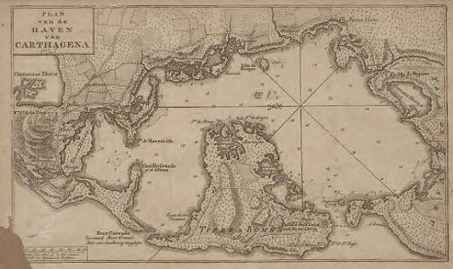 Plan van de haven van Cartagena
