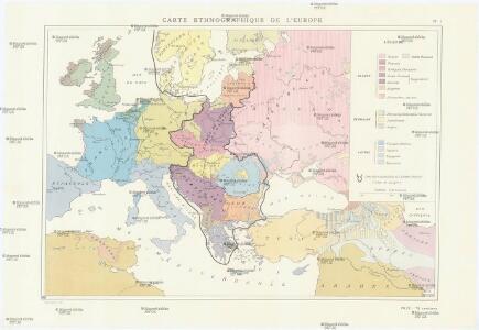 Carte ethnographique de l ́Europe