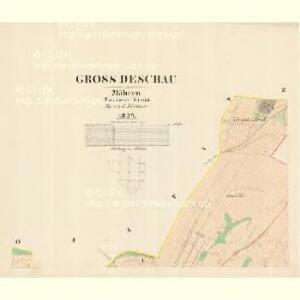 Gross Deschau - m3335-1-001 - Kaiserpflichtexemplar der Landkarten des stabilen Katasters