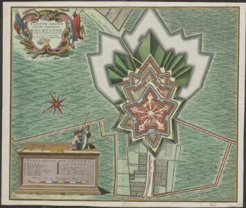 Platte grond van de Fortresse Bourtange ten jare 1742 nauwkeurig opgenomen
