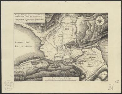 Plan des Thals von Unterseen und Interlacken zwischen dem Thuner und Brienzer See = Plan du vallon d'Unterseen et d'Interlacken, entre les lacs de Thoun et de Brienz