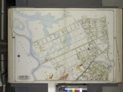 Queens, Vol. 2A, Double Page Plate No. 14; Part of Ward Two Newtown. [Map bounded by Maspeth Creek, Creek St., Maspeth Ave., Broad St., Pacific St.; Including Andrews St., Metropolitan Ave., newtown Creek] / by and under the supervision of Hugo Ullitz.