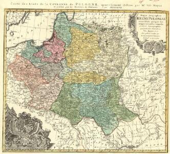 Carte des Etats de la Covronne de Pologne