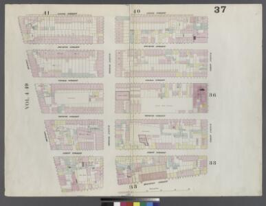 Plate 37: Map bounded by 5th Street, First Avenue, Houston Street, Bowery