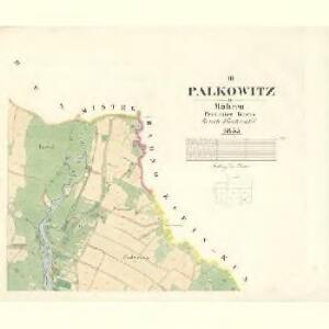 Palkowitz - m2217-1-003 - Kaiserpflichtexemplar der Landkarten des stabilen Katasters