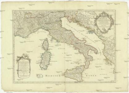 L'Italie distinguée suivant l'estendue de tous les estats, royaumes, republiques, duchés, principautés, [et]c., qui la partagent presentement