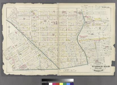 Plate 28: Part of Wards 16, 18 & 19. City of Brooklyn.