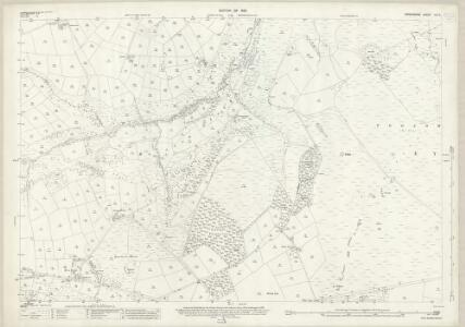 Derbyshire XVI.3 (includes: Abney and Abney Grange; Eyam Woodlands; Eyam; Foolow) - 25 Inch Map