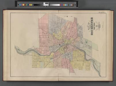 Monroe County, Double Page Plate No. 2  [Map of the city of Rochester]