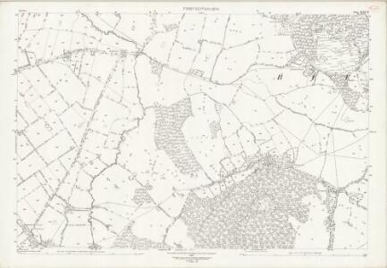 Cheshire XLVII.16 (includes: Beeston; Peckforton; Tattenhall) - 25 Inch Map
