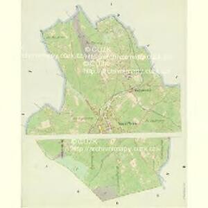 Stadt Platten - c2013-1-001 - Kaiserpflichtexemplar der Landkarten des stabilen Katasters