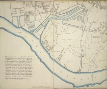 Plan of Lands in the vicinity of the River Thames between Pimlico, Chelsea Hospital and the Penitentiary at Millbank.