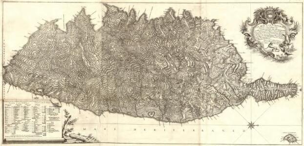 Carta dell'Isola di Corsica