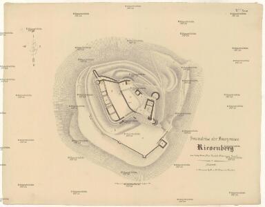 Grundriss der Burgruine Riesenberg bei Neugedein (Dom. Kauth), Klattauer Kreis