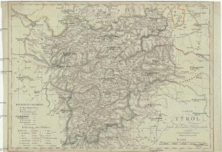 Carte von Tyrol nach den besten Hülfsmitteln verfasst