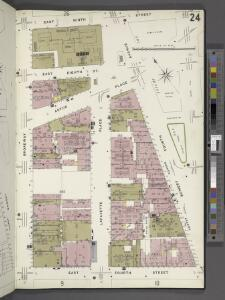 Manhattan, V. 3, Plate No. 24 [Map bounded by E. 9th St., 4th Ave., E. 4th Ave., Broadway]