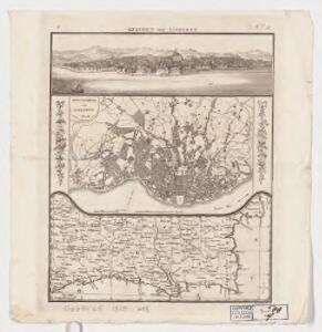 Ansicht von Lissabon. Grundress von Lissabon 1808. [Spain und Portugal]