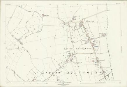 Bedfordshire V.14 (includes: Bolnhurst and Keysoe; Great Staughton; Little Staughton) - 25 Inch Map