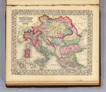 Austrian Empire, Italy, Turkey in Europe, Greece.