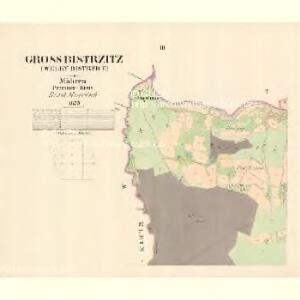Gross Bistrzitz (Welky Bistrzice) - m3258-1-002 - Kaiserpflichtexemplar der Landkarten des stabilen Katasters