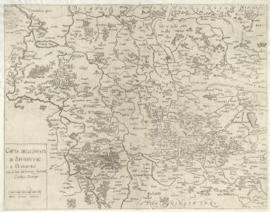 Carta Delli Dvcati di Brvnsvvic, e Lvnebvrg con le loro ad herenze Vescounti, Contee, e Dominy