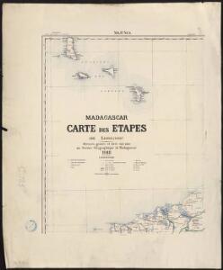 Madagascar. Carte des étapes. Majunga
