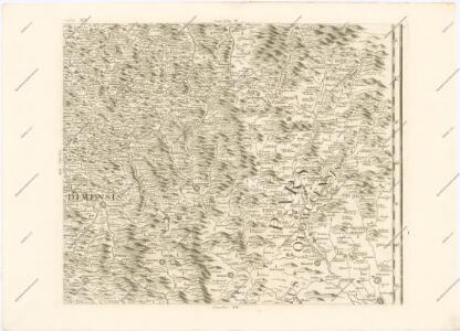 Mappa geographica regni Bohemiae in duodecim circuloc divisae ... Sectio. XV.