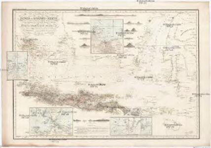 Reduzirte Karte vom SUNDA- ODER BORNEO-MEERE