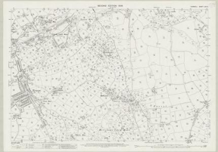 Cornwall LXIII.14 (includes: Camborne Redruth; Wendron) - 25 Inch Map