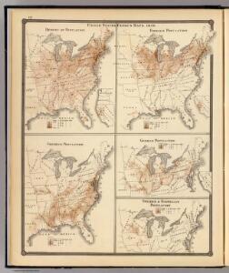 United States Census maps, 1870.
