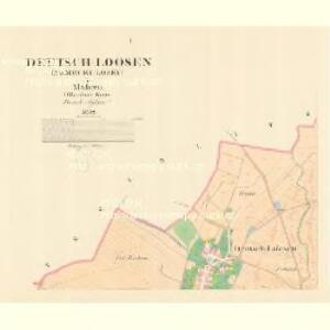 Deutsch Loosen (Německy Losky) - m1475-1-001 - Kaiserpflichtexemplar der Landkarten des stabilen Katasters