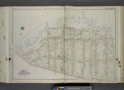 Part of Ward 5. [Map bound by Pierhead And Bulkhead   Line, Barnard Ave (James St), Amboy Road]