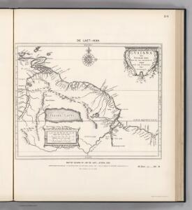 (Facsimile)  Guiana by de Laet.